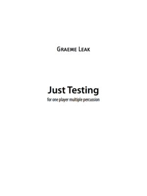Just Testing