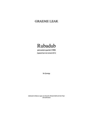 rubadub cover